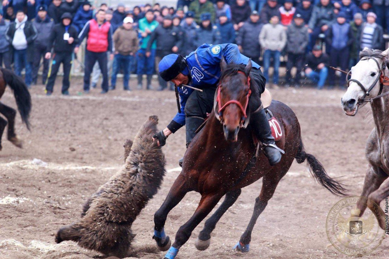 Козлодрание номадов. В Кыргызстане стартовали первые Национальные игры кочевников