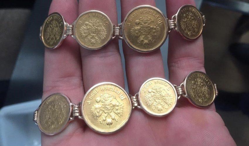 Те самые уникальные браслеты из золота, изъятые у гражданки КНР в аэропорту «Манас».