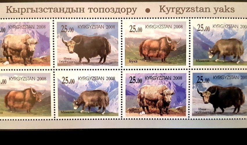 В Кыргызстане 12 лет назад была выпущена целая серия почтовых марок, посвященных местным якам…