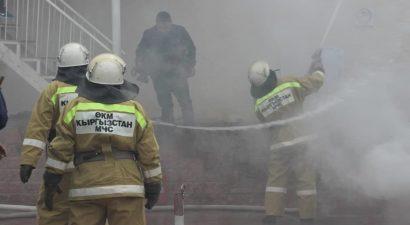 Вспыхнул пожар в Сузакском айыл окмоту